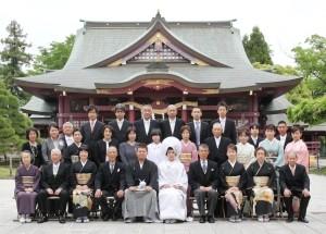 結婚式の集合写真
